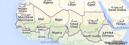 La bande sahélienne, de la Mauritanie au Soudan, de l'Atlantique à la mer Rouge