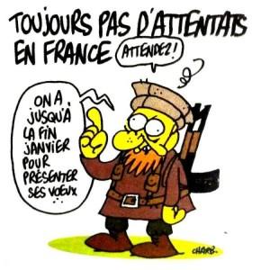 L'ultime dessin de Charb, on ne peut plus prémonitoire