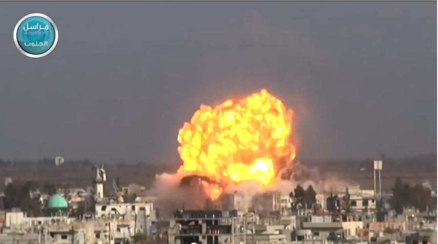 Un SVBIED (véhicule suicide piégé) d'al Nusra vient d'atteindre sa cible à Daraa