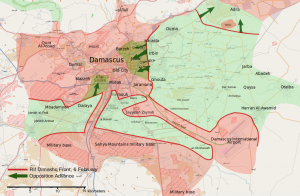 Carte de l'offensive sur la Ghouta orientale