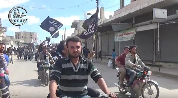 19 black flag Idlib protest 2